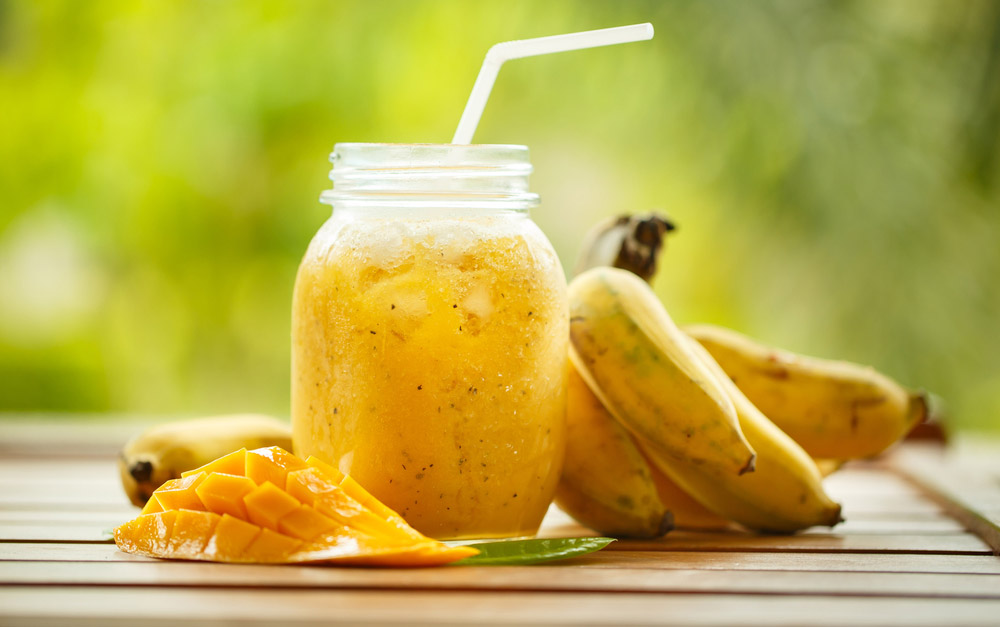 Banana Mango Smoothie Time!!